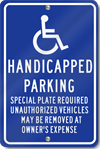 Massachusetts Handicapped Parking Signs