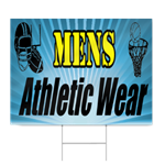Mens Athletic Wear Sign