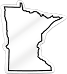 Minnesota Shaped Magnet