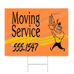 Moving Service Sign