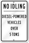 No Idling Diesel-Powered Vehicles Sign