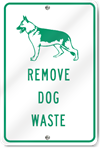 Remove Dog Waste Sign