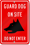 Guard Dog On Site Do Not Enter (Graphic) Sign