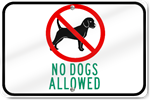 Horizontal No Dogs Allowed Sign