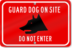 Horizontal Guard Dog On Site Do Not Enter (Graphic) Sign