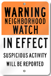 Community Neighborhood Watch Sign