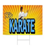 New Karate Sign