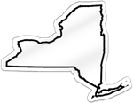 New York Shaped Magnet