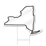 New York Shaped Sign