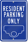 Custom Resident Parking Only Sign
