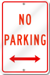 No Parking Double Arrow Sign
