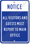 Notice All Visitors And Guests Sign