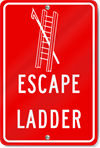 Escape Ladder Evacuation Sign