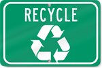 Horizontal Recycle Sign