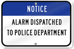 Horizontal Notice Dispatched To Police Sign