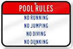 Horizontal Pool Rules Sign