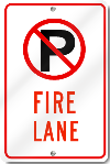 No Parking Fire Lane Sign With Symbol