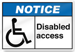Disabled Access2 Notice Signs