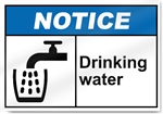 Drinking Water Notice Signs