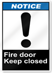 Fire Door Keep Closed2 Notice Signs