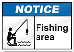 Fishing Area Notice Signs