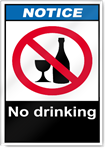 No Drinking Notice Signs