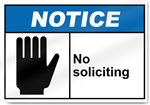 No Soliciting Notice Signs