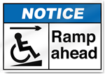 Ramp Ahead Right Notice Signs