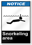 Snorkeling Area Notice Signs