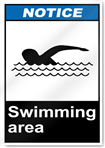 Swimming Area Notice Signs