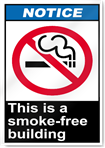 This Is A Smoke-Free Building Notice Signs
