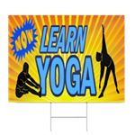Now Learn Yoga Sign