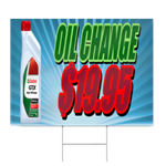 Oil Change $19.95 Sign