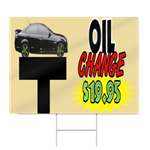 Oil Change Sign