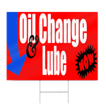 Oil Change & Lube Sign
