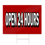 Open 24 Hours Block Lettering Sign