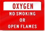 Oxygen No Smoking Or Open Flames Sign