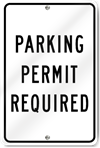 Parking Permit Required Metal Sign