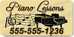 Piano Lessons Magnet