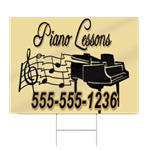 Piano Lessons Sign