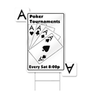 Playing Cards Shaped Sign