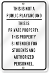 Not Public Playground Private Property Sign