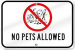 Horizontal No Pets Allowed Playground Sign