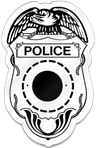 Police Badge Shaped Magnet