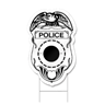 Police Badge Shaped Sign