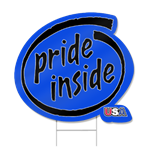 Pride Inside Shaped Sign