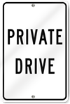 Private Drive .080 Aluminum Sign