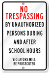Unauthorized Persons Sign