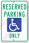 Reserved Parking (Graphic) Only Sign