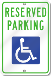 Reserved Parking for Handicap Sign